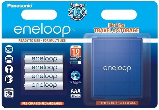 4 x akumulatorki Panasonic Eneloop R03 AAA 800mAh BK-3MCCEC4BE (blister + box)