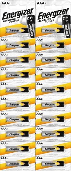20 x bateria alkaliczna Energizer Alkaline Power LR03/AAA (blister)