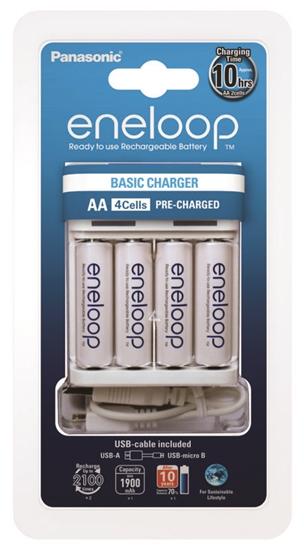 Ładowarka akumulatorków Ni-MH Panasonic Eneloop BQ-CC61 + 4 x R6/AA Eneloop 2000mAh