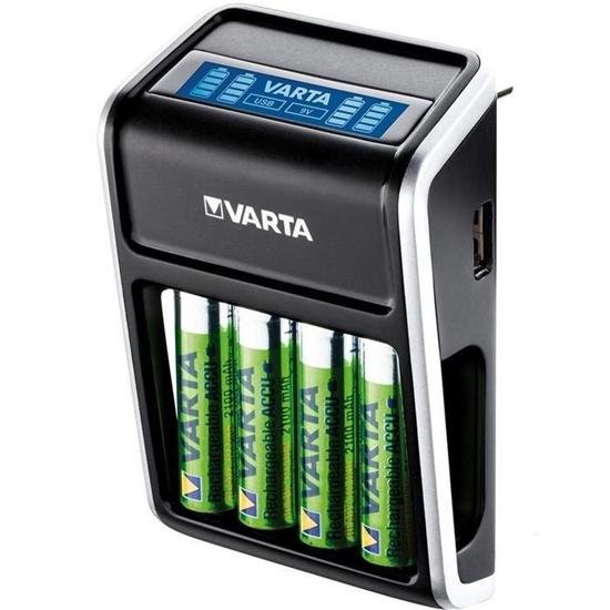 Ładowarka akumulatorków Ni-MH VARTA LCD PLUG CHARGER 57677 + 4 x R6 / AA 2100 mAh