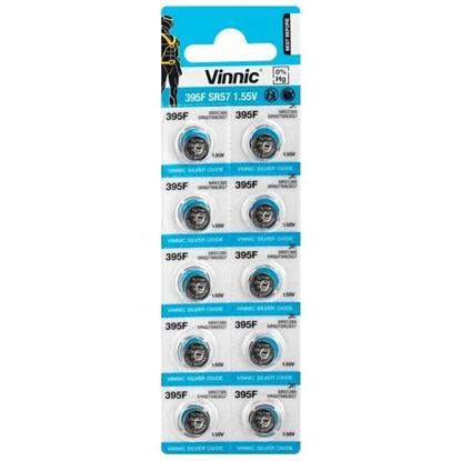10 x bateria srebrowa mini Vinnic 395 / 399 / SR927SW / SR57 / G7