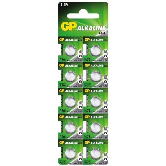 10 x bateria alkaliczna mini GP A76 / G13 / AG13 / L1154 / LR44 / 157 / V13GA / RW82