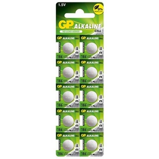 10 x bateria alkaliczna mini GP 186 / G12 / AG12 / L1142 / LR43 / V12GA / RW84 / D186