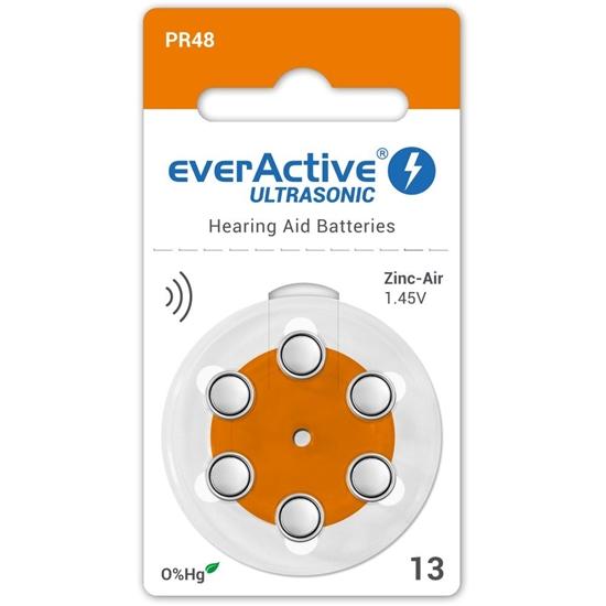 6 x baterie do aparatów słuchowych everActive ULTRASONIC 13