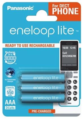 3 x akumulatorki Panasonic Eneloop Lite R03 AAA 550mAh BK-4LCCE/3BE (blister)