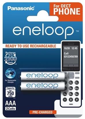 2 x akumulatorki Panasonic Eneloop R03 AAA 800mAh for DECT BK-4MCCE/2DE (blister)