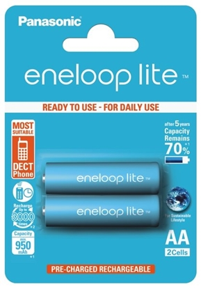 2 x Panasonic Eneloop Lite R6/AA 950mAh BK-3LCCE/2BE (blister)