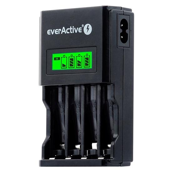 Ładowarka akumulatorków Ni-MH R6/AA, R03/AAA everActive NC-450 Black Edition