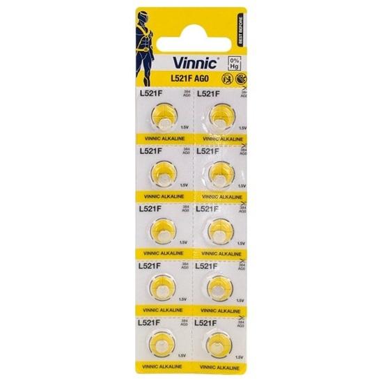 10 x bateria alkaliczna mini Vinnic G0 / AG0 / LR63 / L521