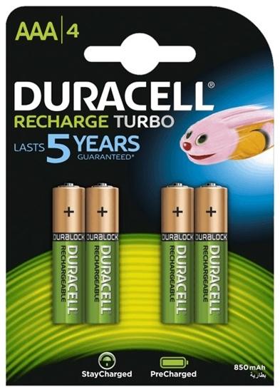 4 x akumulatorki Duracell Recharge Turbo R03 AAA 850 mAh (blister)