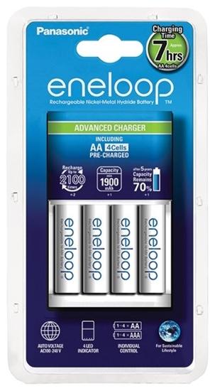 Ładowarka akumulatorków Ni-MH Panasonic Eneloop BQ-CC17 + 4 x R6/AA Eneloop 2000mAh BK-3MCCE