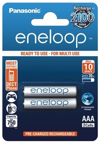 2 x akumulatorki Panasonic Eneloop R03 AAA 800mAh BK-4MCCE/2BE (blister)