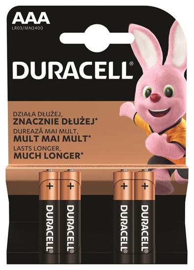 4 x bateria alkaliczna Duracell Basic Duralock C&B LR03 AAA (blister)