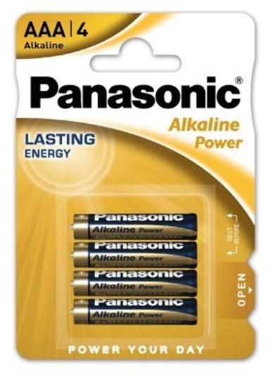 4 x Panasonic Alkaline Power LR03/AAA (blister)