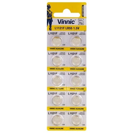 10 x bateria alkaliczna mini Vinnic G8 / LR55