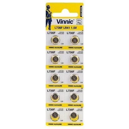 10 x bateria alkaliczna mini Vinnic G3 / AG3 / LR41 / L736 / 192