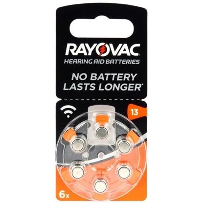 6 x baterie do aparatów słuchowych Rayovac Acoustic Special 13