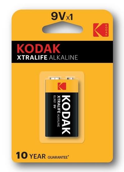 1 x KODAK Xtralife Alkaline 6LR61 / 9V (blister)