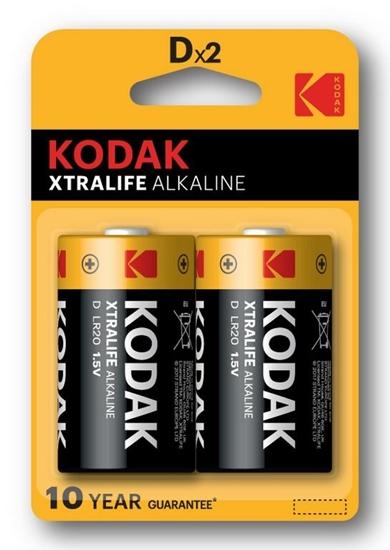 2 x KODAK Xtralife Alkaline LR20 / D (blister)