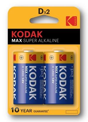 2 x KODAK Max Alkaline LR20 / D (blister)