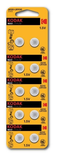 10 x bateria alkaliczna mini KODAK G10 / LR54 / LR1130 / 189 / AG10
