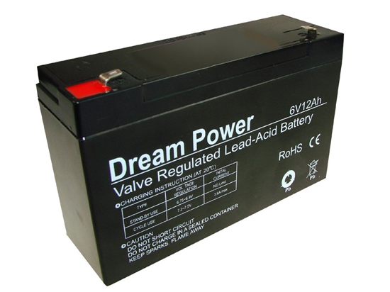 akumulator żelowy AGM Dream Power 6V 12Ah