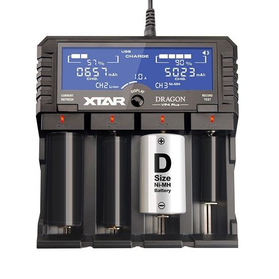 Ładowarka do akumulatorów cylindrycznych li-ion 18650 Xtar VP4+ Dragon