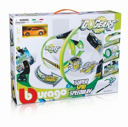 Bburago GoGEARS Super Spin Speedway z autkiem pull-back