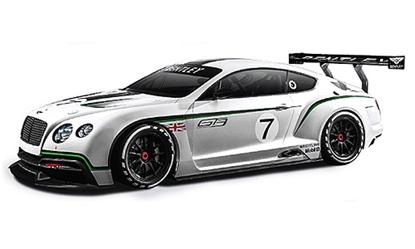 Bburago 1:24 Bentley GT3 -biały  /Race