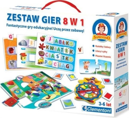 CLEMENTONI GRA ZESTAW 8w1 GRY EDUKACYJNE (60699)
