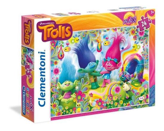 Clementoni puzzle 24 MAXI Trolls (24058 CLEMENTONI)