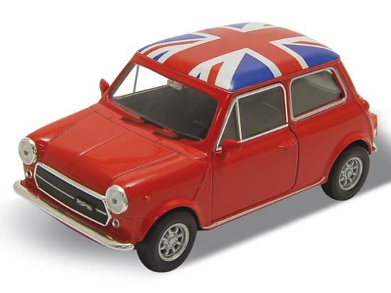 WELLY 1:34 Mini Cooper 1300 -Wielka Brytania czerwony