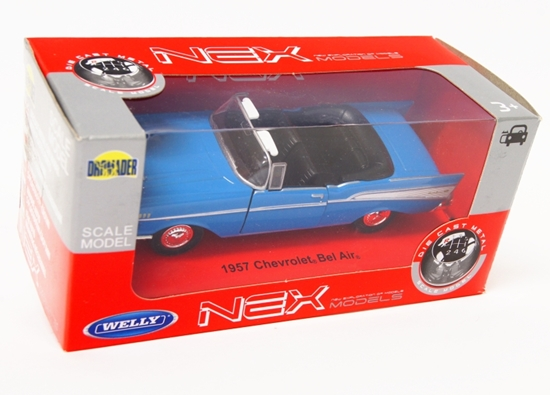 Welly 1:34 Chevrolet BEL AIR '57 cabrio -niebieski