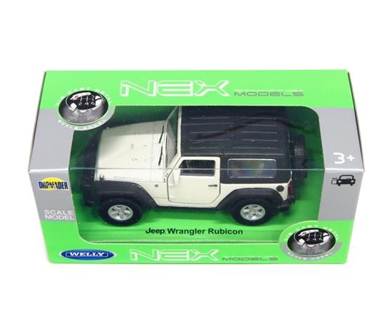 WELLY 1:34 Jeep Wrangler Rubicon z dachem - biały
