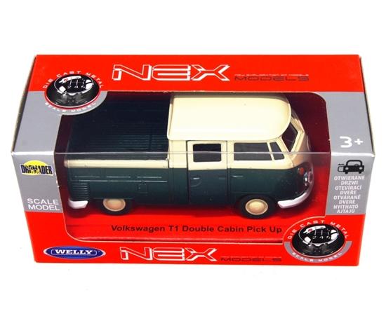 WELLY 1:34 Volkswagen T1 Double Cabin PICK UP zielony
