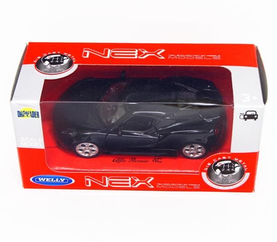 Welly 1:34 Alfa Romeo 4C - czarny