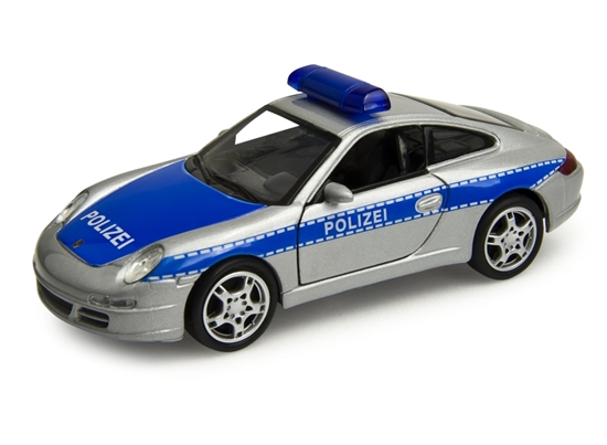 Welly 1:34 Porsche 911  Carrera S Coupe Policja -srebrny