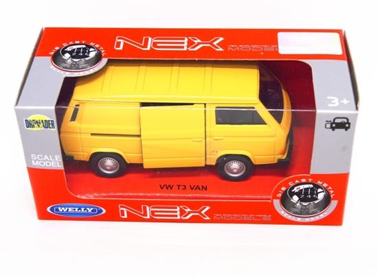 Welly 1:34 VW Volkswagen T3 VAN -żółty