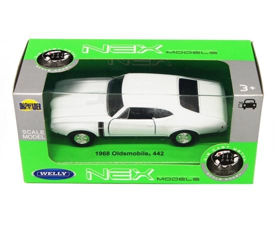 Welly 1:34 1968 Oldsmobile 442 - biały
