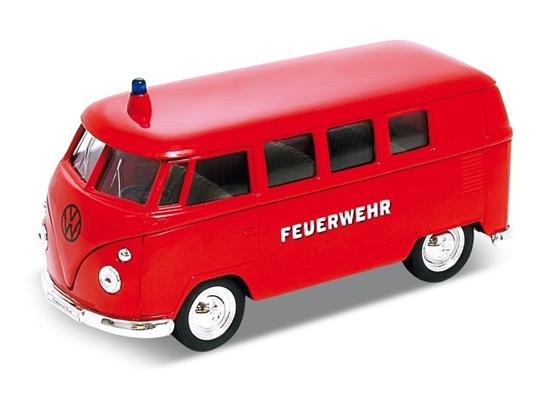 Welly 1:34 Volkswagen T1 Bus straż -czerwony