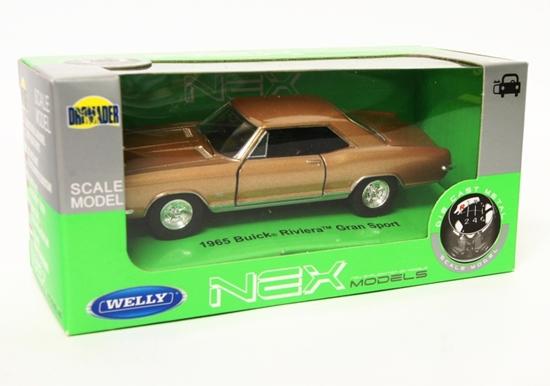 Welly 1:34 Buick 1965 Riviera Gran Sport - złoty
