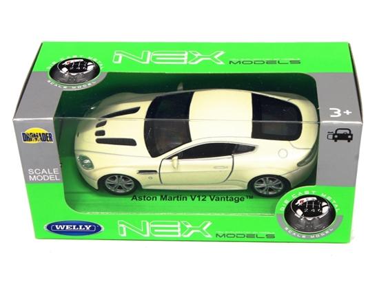 Welly 1:34 Aston Martin V12 Vantage -kremowy