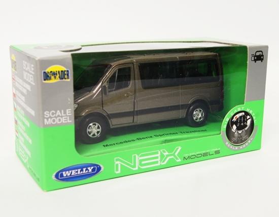 Welly 1:34 Mercedes-Benz Sprinter Traveliner -grafitowy