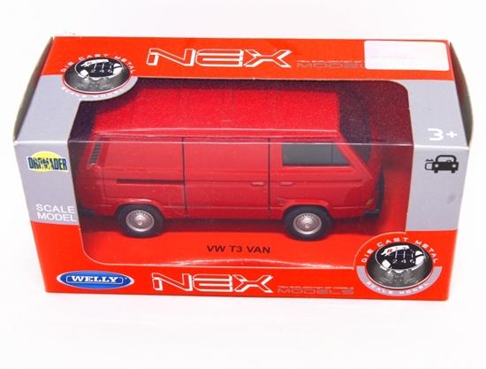 Welly 1:34 VW Volkswagen T3 VAN -czerwony