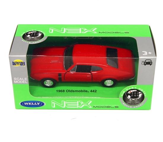 Welly 1:34 1968 Oldsmobile 442 - czerwony