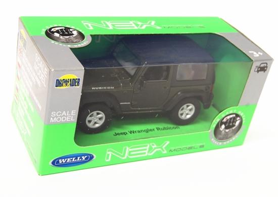 WELLY 1:34 Jeep Wrangler Rubicon z dachem - zielony