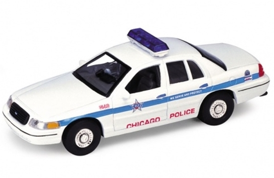 Welly 1:34 Ford Crown Victoria '99 chicago police biały