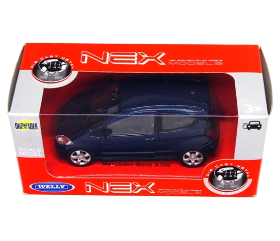 WELLY 1:34 Mercedes Benz A 200 granatowy