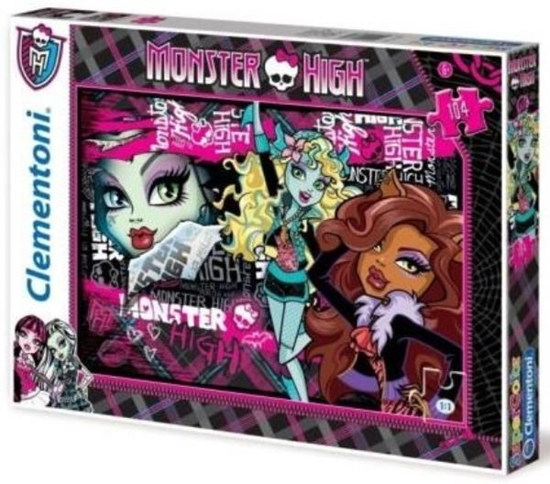 CLEMENTONI PUZZLE 104 MONSTER HIGH (27867)
