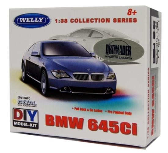 WELLY KIT 1:38 BMW 645Ci  pull-back  DO SKŁADANIA (23535)